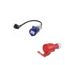 Câble adaptateur CEE mono 32A - Schuko 16A