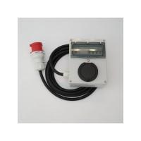 Wallbox Portable avec disjoncteur intégré et différentiel - triphasé 22kW  (puissance variable de 3,7 à 22kw)