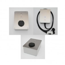 Wallbox Murale DESIGN en Inox (puissance variable de 3,7 à 22kw)