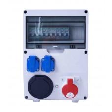 WallBox avec disjoncteur triphasé 22kW (puissance variable de 3,7 à 22kw)