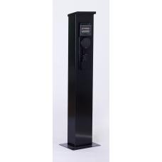 Wallbox sur pied avec disjoncteur - triphasé 22kW  (puissance variable de 3,7 à 22kw)